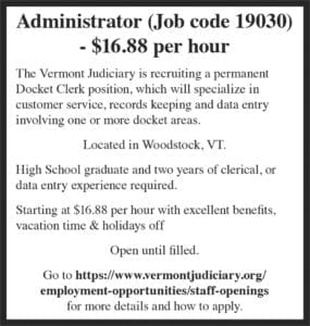Classifieds – The Vermont Standard