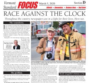 Race Against The Clock VT Standard Front Page